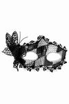 Venetiaans gezichtsmasker Turandot, zwart/zilver